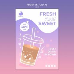 手绘奶茶创意海报设计