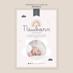 新生兒海報傳單模板