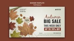 秋季商場促銷海報設計
