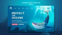 海洋主題登錄頁模板設計