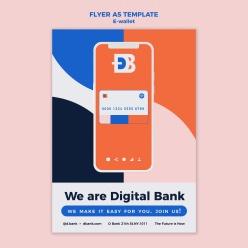 手機電子錢包宣傳單設計