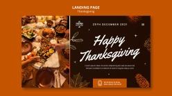 感恩節快樂登錄頁面模板